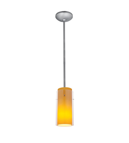 Access 28033-4R-BS/CLOP Signature LED 5 inch Brushed Steel Pendant Ceiling Light in Clear and Opal photo