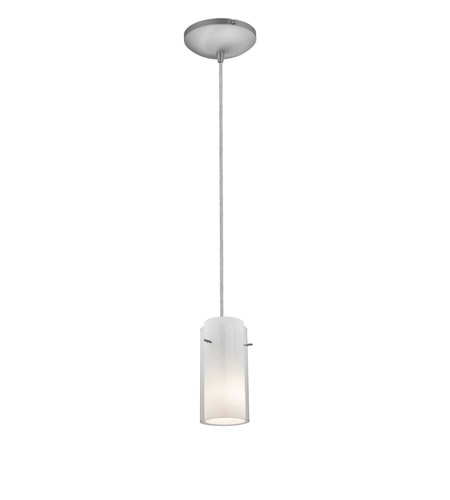 Access 28033-2C-BS/CLOP Tali 1 Light 5 inch Brushed Steel Pendant Ceiling Light in Clear and Opal, Fluorescent, Cord photo