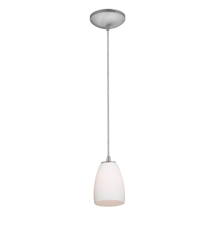 Access 28069-1C-BS/OPL Sydney 1 Light 5 inch Brushed Steel Pendant Ceiling Light in Opal, Incandescent, Cord photo