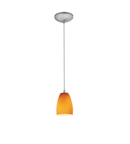 Access 28069-3C-BS/AMB Sherry LED 5 inch Brushed Steel Pendant Ceiling Light in Amber photo