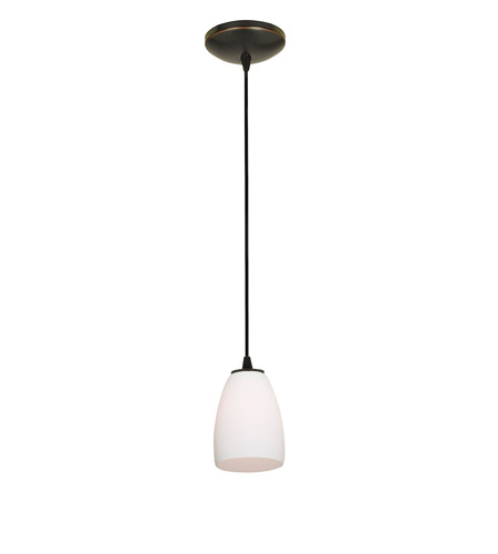 Access Lighting Sydney 1 Light Cone Glass Pendant in Oil Rubbed Bronze with Opal Glass 28069-1C-ORB/OPL photo