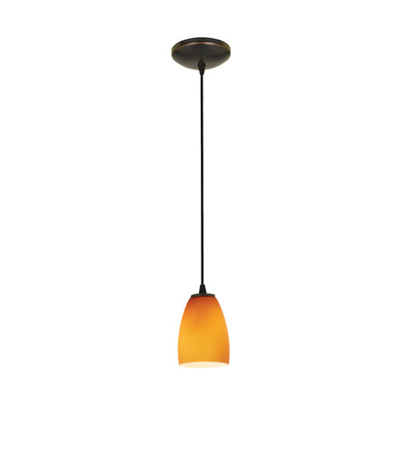 Access 28069-3C-ORB/AMB Sherry LED 5 inch Oil Rubbed Bronze Pendant Ceiling Light in Amber photo