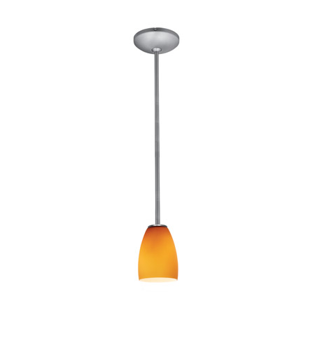 Access 28069-4R-BS/AMB Sherry LED 5 inch Brushed Steel Pendant Ceiling Light in Amber photo