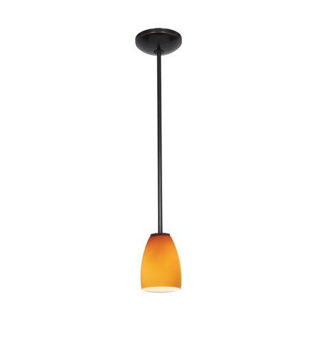 Access 28069-3R-ORB/AMB Sherry LED 5 inch Oil Rubbed Bronze Pendant Ceiling Light in Amber photo