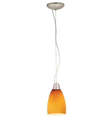 Access Lighting Ami Velvet 1 Light Maxi Pendant in Brushed Steel 28069-BS/AMB photo