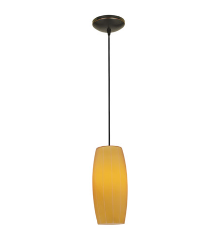 Access 28070-3C-ORB/AMB Cognac LED 5 inch Oil Rubbed Bronze Pendant Ceiling Light in Amber photo