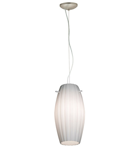 Access Lighting Ami Fleur 1 Light Maxi Pendant in Brushed Steel 28076-BS/OPL photo