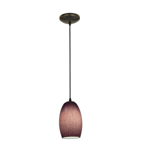 Access 28078-3C-ORB/PLS Chianti LED 5 inch Oil Rubbed Bronze Pendant Ceiling Light in Purple Swirl photo