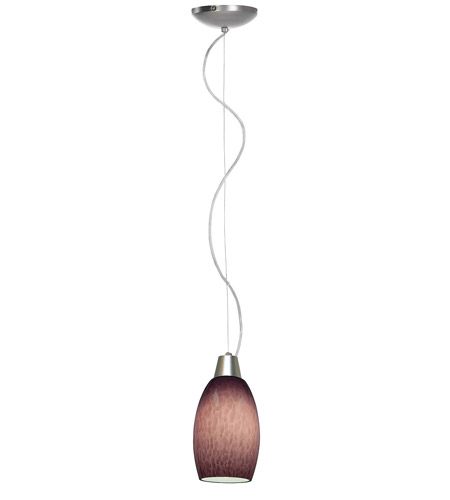 Access Lighting Ami Swirl 1 Light Maxi Pendant in Brushed Steel 28078-BS/PLC photo