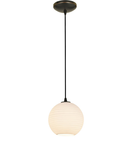 Access 28085-1C-ORB/WHTLN Lantern 1 Light 8 inch Oil Rubbed Bronze Pendant Ceiling Light in Incandescent, Cord photo