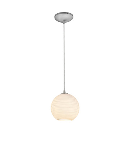 Access 28085-2C-BS/WHTLN Lantern 1 Light 8 inch Brushed Steel Pendant Ceiling Light in Fluorescent, Cord photo