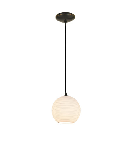 Access 28085-2C-ORB/WHTLN Lantern 1 Light 8 inch Oil Rubbed Bronze Pendant Ceiling Light in Fluorescent, Cord photo