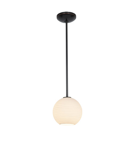 Access Lighting Lantern 1 Light Pendant in Oil Rubbed Bronze with White Lined Glass 28085-2R-ORB/WHTLN photo