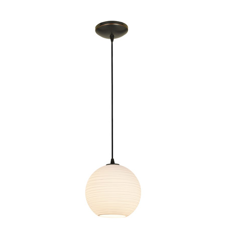 Access 28087-2C-ORB/WHTLN Lantern 1 Light 10 inch Oil Rubbed Bronze Pendant Ceiling Light in Fluorescent, Cord photo