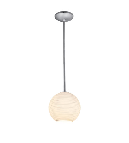 Access 28087-2R-BS/WHTLN Lantern 1 Light 10 inch Brushed Steel Pendant Ceiling Light in Fluorescent, Rod photo