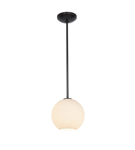 Access 28087-2R-ORB/WHTLN Lantern 1 Light 10 inch Oil Rubbed Bronze Pendant Ceiling Light in Fluorescent, Rod photo