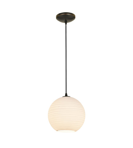 Access 28088-3C-ORB/WHTLN Japanese Lantern Large LED 12 inch Oil Rubbed Bronze Pendant Ceiling Light photo