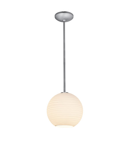 Access 28088-2R-BS/WHTLN Lantern 1 Light 12 inch Brushed Steel Pendant Ceiling Light in Fluorescent, Rod photo
