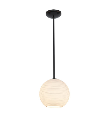 Access Lighting Lantern 1 Light Pendant in Oil Rubbed Bronze with White Lined Glass 28088-2R-ORB/WHTLN photo