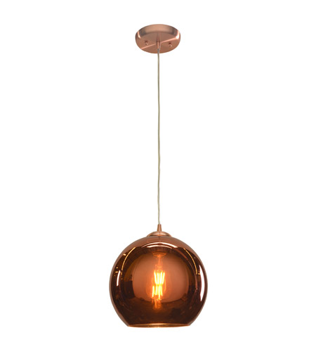 Access 28101LEDD-BCP/CP Glow LED 10 inch Brushed Copper Pendant Ceiling Light photo