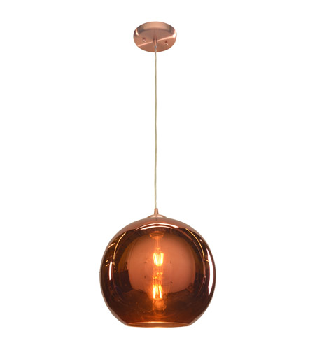 Access 28102-BCP/CP Glow 1 Light 12 inch Brushed Copper Pendant Ceiling Light photo