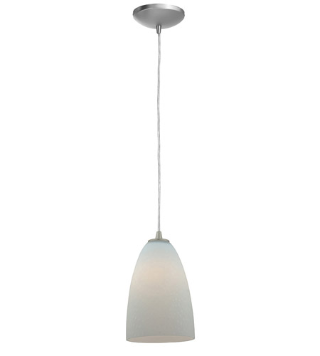 Access Lighting Sydney Rain 1 Light Italian Glass Pendant in Brushed Steel 28203-BS/WRD photo