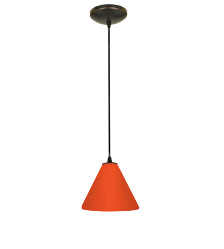 Access Lighting Sydney Inari Silk 1 Light Maxi Pendant in Oil Rubbed Bronze 28204-ORB/RED photo