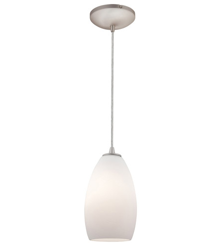 Access Lighting Sydney Inari Silk 1 Light Maxi Pendant in Brushed Steel 28212-BS/OPL photo