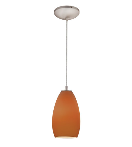 Access Lighting Sydney Inari Silk 1 Light Maxi Pendant in Brushed Steel 28212-BS/PLM photo