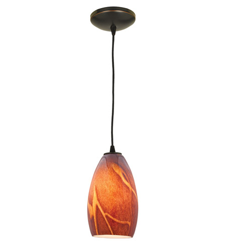 Access Lighting Sydney Inari Silk 1 Light Maxi Pendant in Oil Rubbed Bronze 28212-ORB/ICA photo