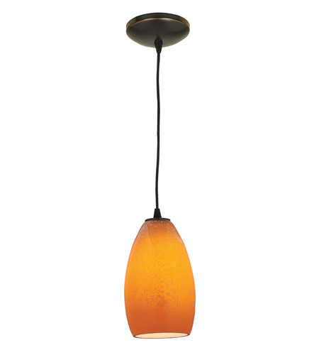 Access Lighting Sydney Inari Silk 1 Light Maxi Pendant in Oil Rubbed Bronze 28212-ORB/MYA photo