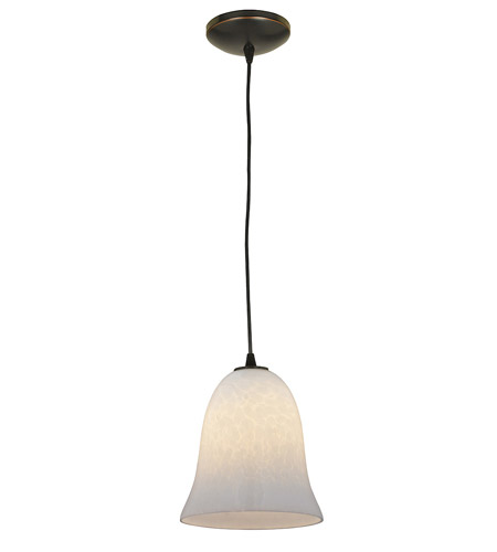 Access Lighting Sydney Manhattan 1 Light Bell Glass Pendant in Oil Rubbed Bronze 28214-ORB/OPL photo