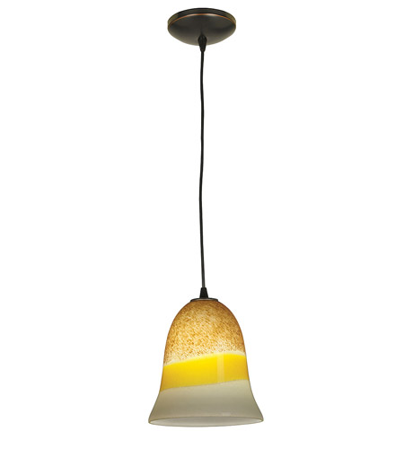 Access Lighting Sydney Manhattan 1 Light Bell Glass Pendant in Oil Rubbed Bronze 28214-ORB/TRA photo