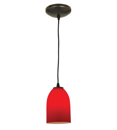 Access Lighting Sydney Inari Silk 1 Light Maxi Pendant in Oil Rubbed Bronze 28218-ORB/RED photo
