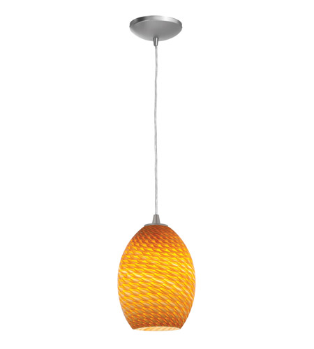 Access Lighting Sydney Ostrich 1 Light Maxi Pendant in Brushed Steel 28223-BS/AMBFB photo