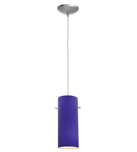 Access Lighting Sydney Inari Silk 1 Light Maxi Pendant in Brushed Steel 28230-BS/COB photo