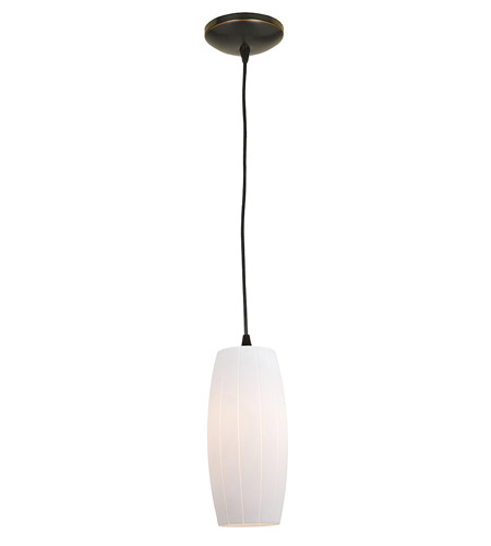 Access Lighting Sydney Pearl 1 Light Maxi Pendant in Oil Rubbed Bronze 28270-ORB/WHT photo