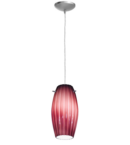 Access Lighting Sydney Fleur Cylinder 1 Light Maxi Pendant in Brushed Steel 28276-BS/PLM photo