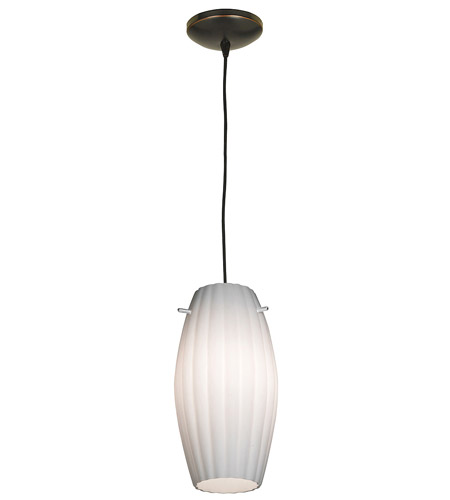 Access Lighting Sydney Fleur Cylinder 1 Light Maxi Pendant in Oil Rubbed Bronze 28276-ORB/OPL photo