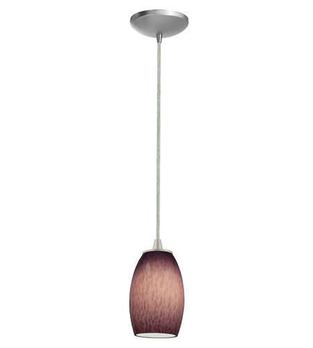 Access Lighting Sydney Swirl 1 Light Maxi Pendant in Brushed Steel 28278-BS/PLC photo