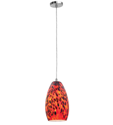 Access Lighting Shava Inari Silk 1 Light Maxi Pendant in Brushed Steel 28312-BS/CRN photo