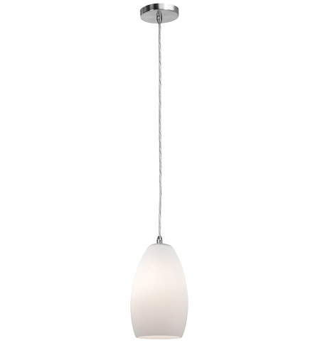 Access Lighting Shava Inari Silk 1 Light Maxi Pendant in Brushed Steel 28312-BS/OPL photo