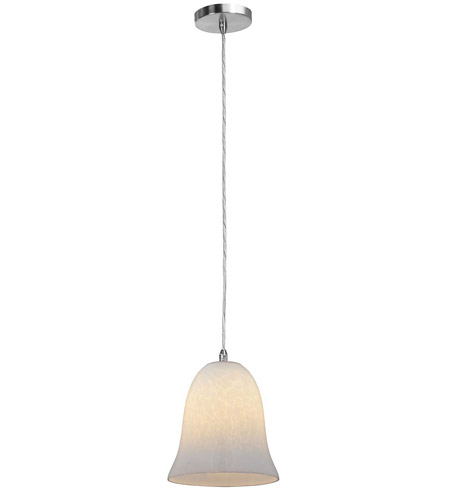 Access Lighting Shava Manhattan 1 Light Bell Glass Pendant in Brushed Steel 28314-BS/OPL photo