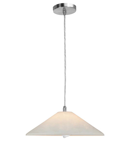 Access Lighting Shava Hat 1 Light Hat Glass Pendant in Brushed Steel 28315-BS/OPL photo
