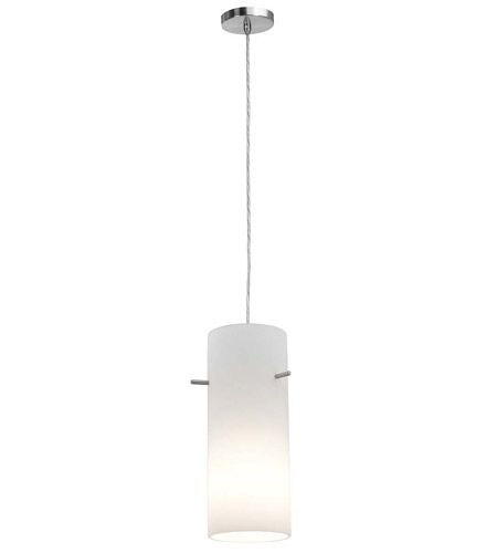 Access Lighting Shava Inari Silk 1 Light Maxi Pendant in Brushed Steel 28330-BS/OPL photo