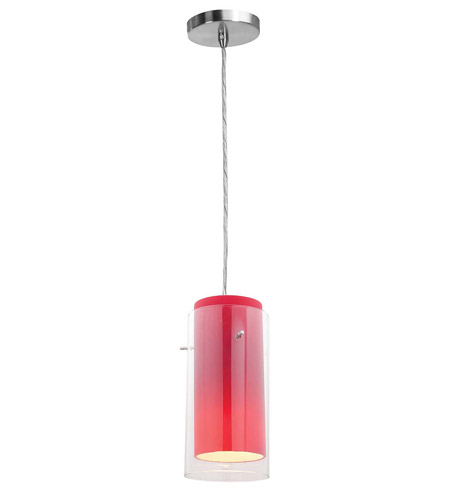 Access Lighting Shava Glass in Glass 1 Light Maxi Pendant in Brushed Steel 28333-BS/CLRD photo