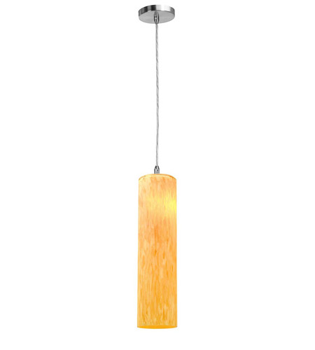 Access Lighting Shava Tube 1 Light Maxi Pendant in Brushed Steel 28366-BS/AMM photo