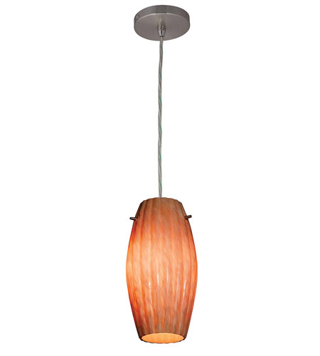 Access Lighting Shava Fleur Cylinder 1 Light Maxi Pendant in Brushed Steel 28376-BS/AMM photo