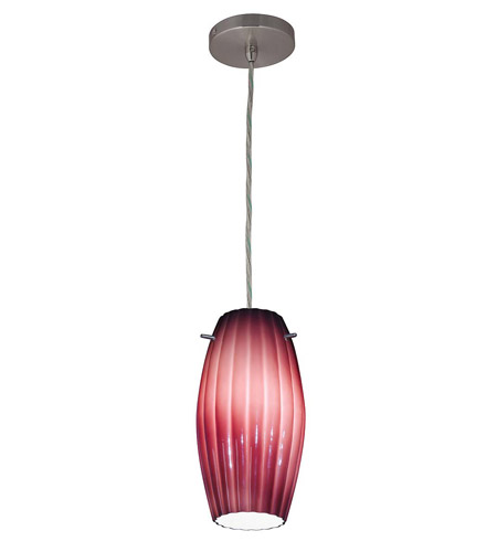 Access Lighting Shava Fleur Cylinder 1 Light Maxi Pendant in Brushed Steel 28376-BS/PLM photo