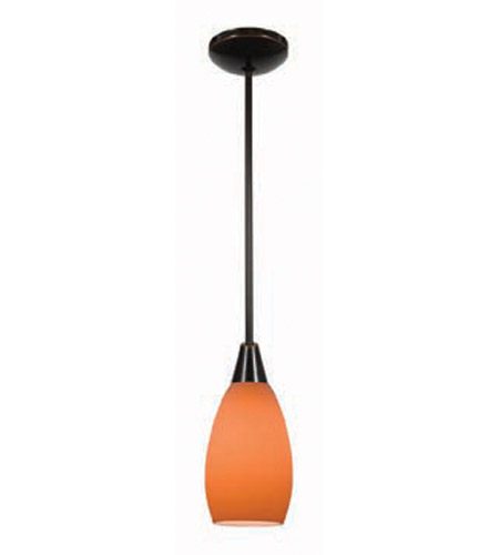 Access Lighting Shaney Inari Silk 1 Light Maxi Pendant in Oil Rubbed Bronze 28412-ORB/ORG photo